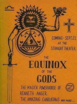 '67 Handbill for Kenneth Anger's Equinox of the Gods by Randy Salas